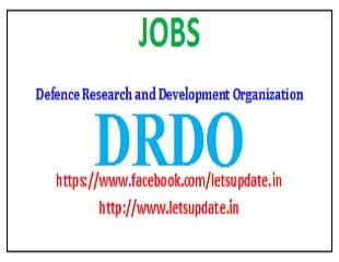 Jobs @ DRDO-Letsupdate