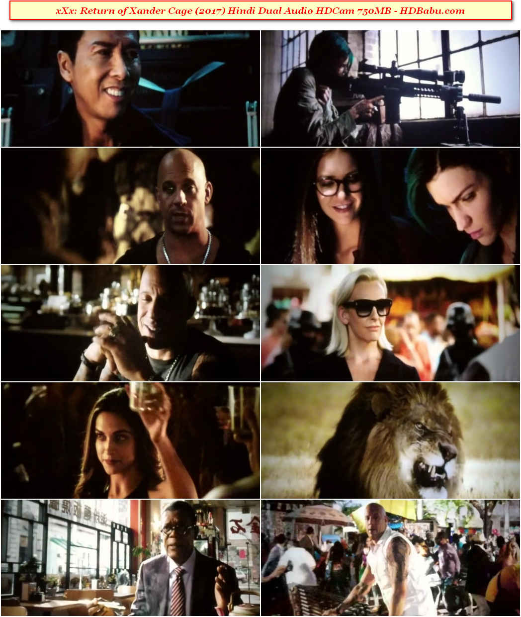 xXx Return of Xander Cage Full Movie Download, xXx Return of Xander Cage Hindi Dual Audio HDCam Full Movie Download Free Full HD