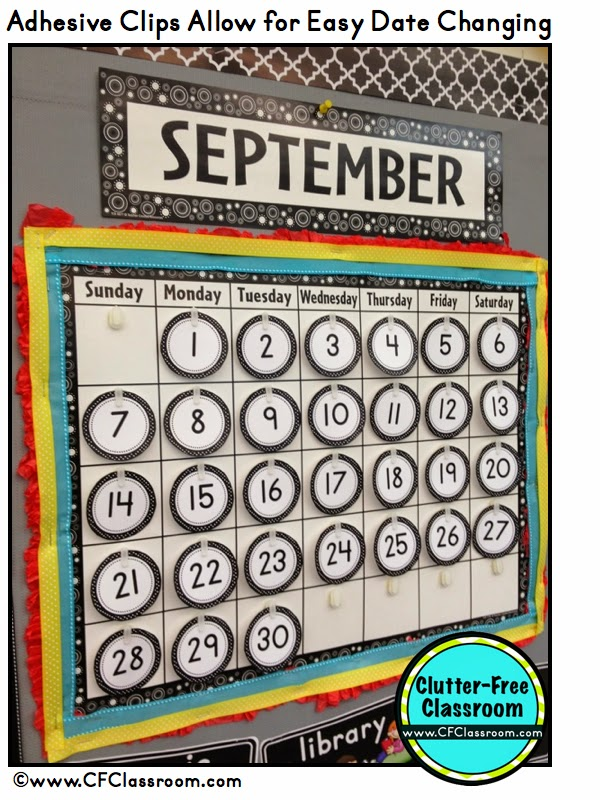 Calendar Typography Tips : Classroom calendar makeover design photos set