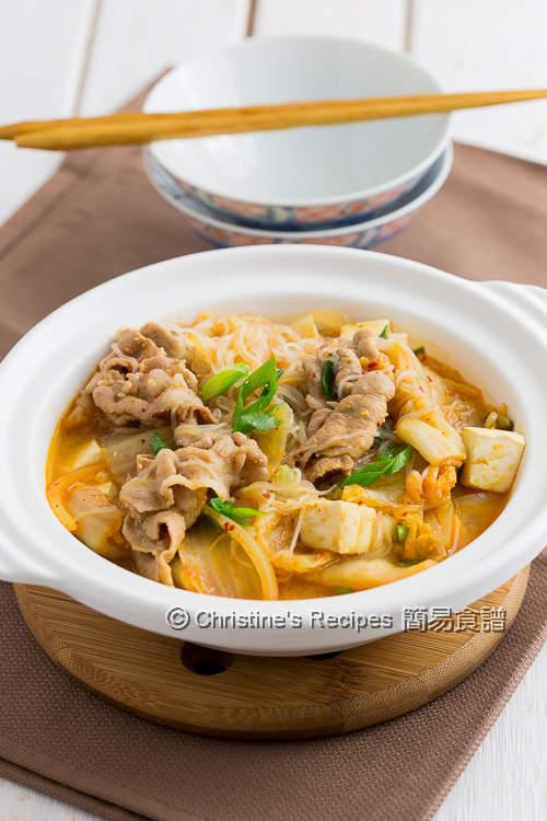 泡菜豆腐粉絲豬肉煲 Kimchi Pork Tofu with Vermicelli Noodles02