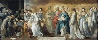 La muerte de Santa Clara - Gemaldegallerie, Dresden 190 X 446 cm
