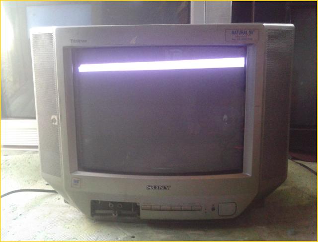 Perbaikan Kerusakan V/H Sync TV SONY 14-Inch (KV-J14P2S)