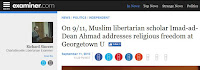 9/11 September 11 Islam Muslims Minaret of Freedom Hoyas for Liberty Georgetown University