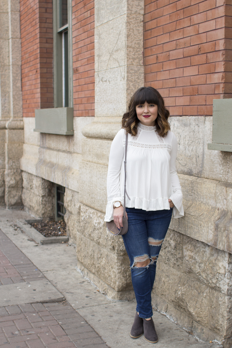 How to style a bell sleeve top