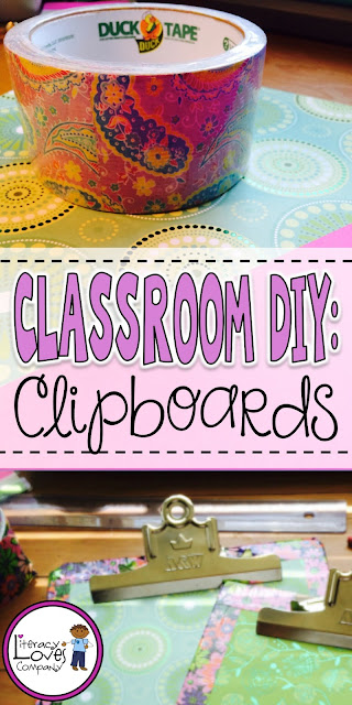 Classroom DIY - Turn old clipboards into a creative organizational tool for the classroom!