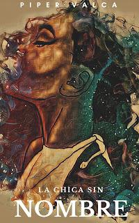 Dibujo de una mujer negra en medio de siluetas, colores y formas