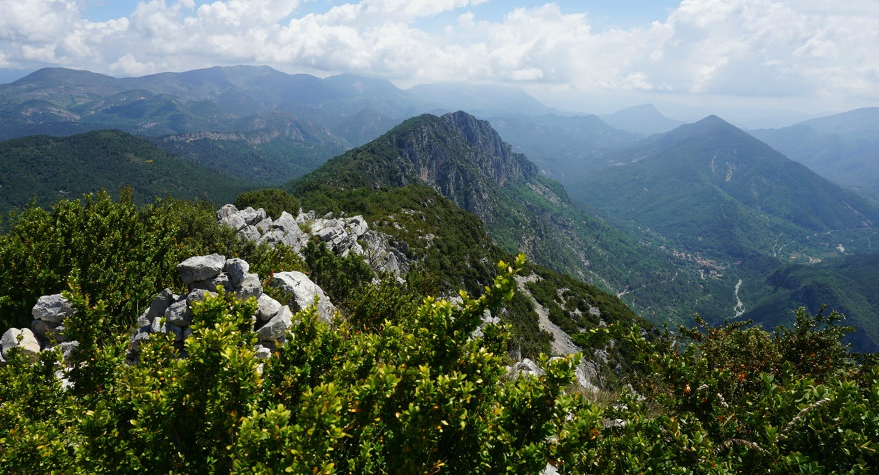 View east from Cime de la Cacia