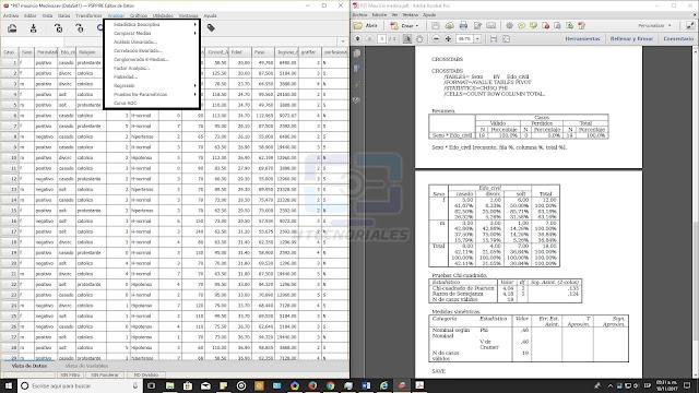 Analisis bivariado y tablas cruzadas PSPP