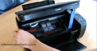 a picture showing you how to open the printer's lid