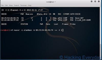 REAVER : Hack Wifi WPA2-PSK dengan Linux command