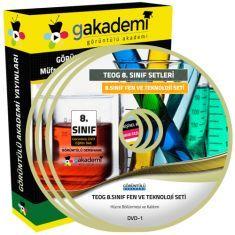 Görüntülü TEOG 8.Sınıf Fen ve Teknoloji Eğitim Seti 8 DVD