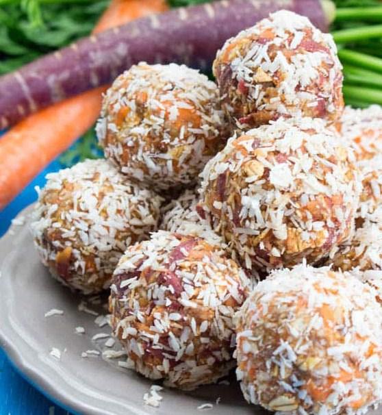 Vegan Carrot No Bake Energy Bites