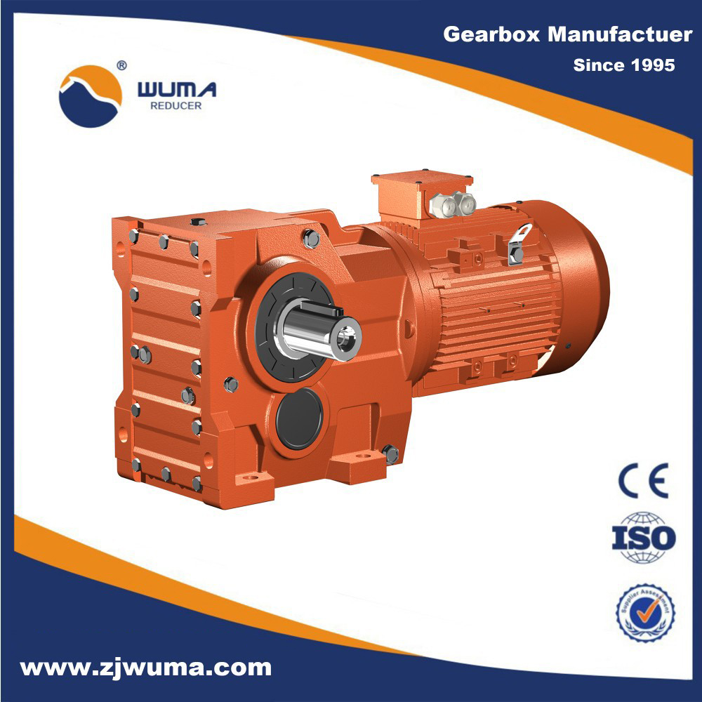 Wuma combination worm gearbox rv worm gear reducer worm for Electric motor with gearbox