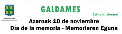 Galdames conmemora el día de la Memoria