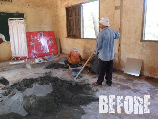 Before Renovation of a Clinic in Koh Dach Cambodia via the social traveler