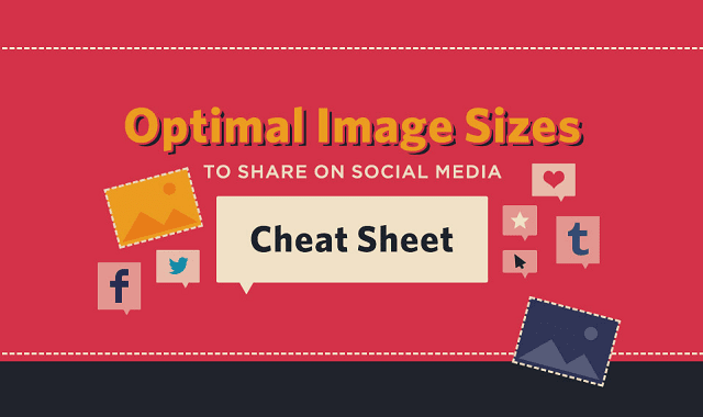 Optimal Image Sizes to Share on Social Media Cheat Sheet