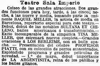 Recortes de prensa de La Vanguardia sobre la Sala Imperio, en diferentes épocas (3)