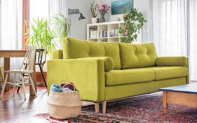 Zielona kanapa i reszta, czyli zmiany w salonie - CZYTAJ DALEJ