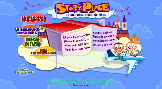 """PequeInformática: Story Place """"La Biblioteca Digital de los Niños"""""""