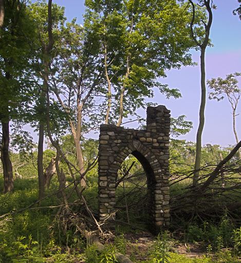 Remains of the Aquinas Retreat on Charles Island