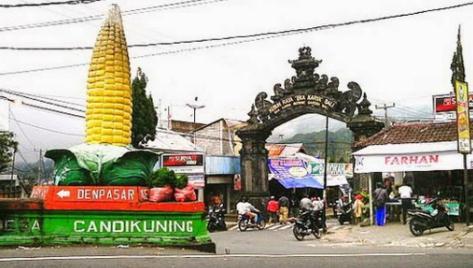 Tempat wisata pasar buah candi kuning di bedugul bali