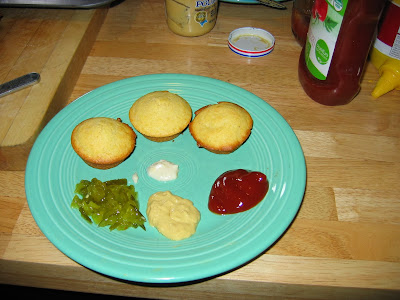 Corn dogs for humans on a plate