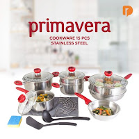 Dusdusan Primavera Cookware 15 Pieces Stainless Steel (Set of 15) ANDHIMIND