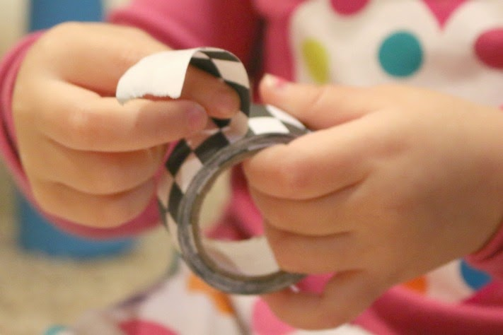 tape collage craft for kids