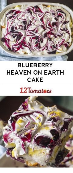 Blueberry Heaven On Earth Trifle Cake