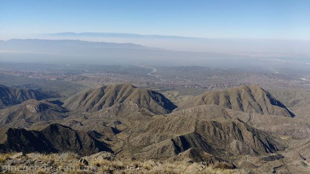 Cerro Tomillo, Quebrada corral viejo, Ullum, cerro La Tordilla