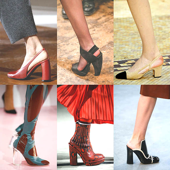 Sepatu model chunky heels