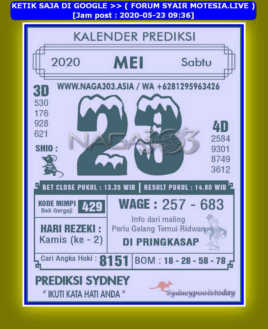 Kode syair Sydney Sabtu 23 Mei 2020 203