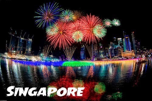 Happy New Year Eve Fireworks Images 2018 singapore