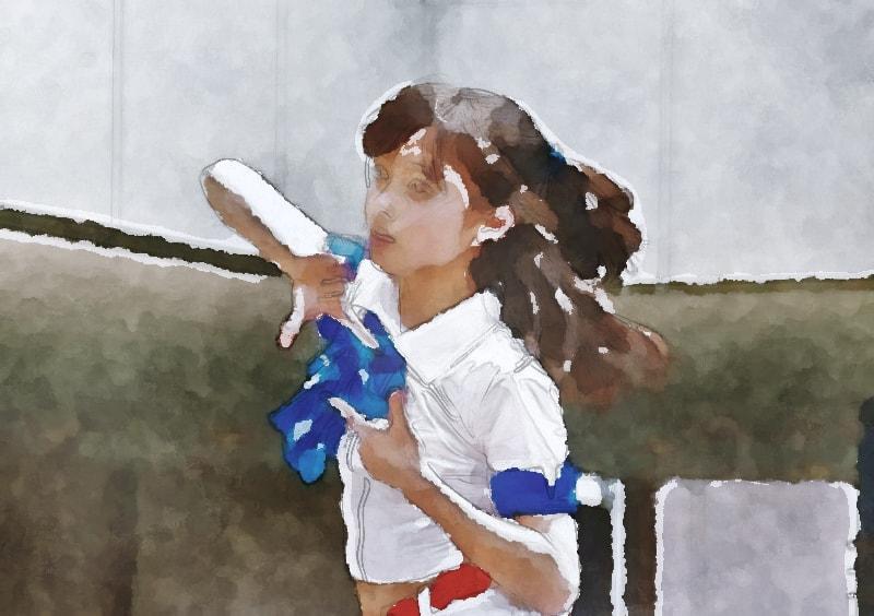 水彩画の橋本環奈