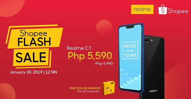 Realme C1 Shopee Flash Sale