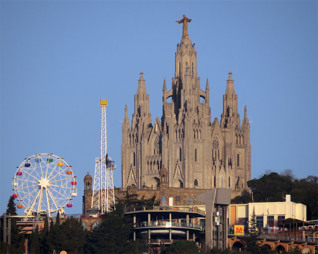 Temple Expiatori del Sagrat Cor (Expiatory Church of the Sacred Heart of Jesus), Tibidabo Amusement Park, Tibidabo, Collserola Ridge, Barcelona