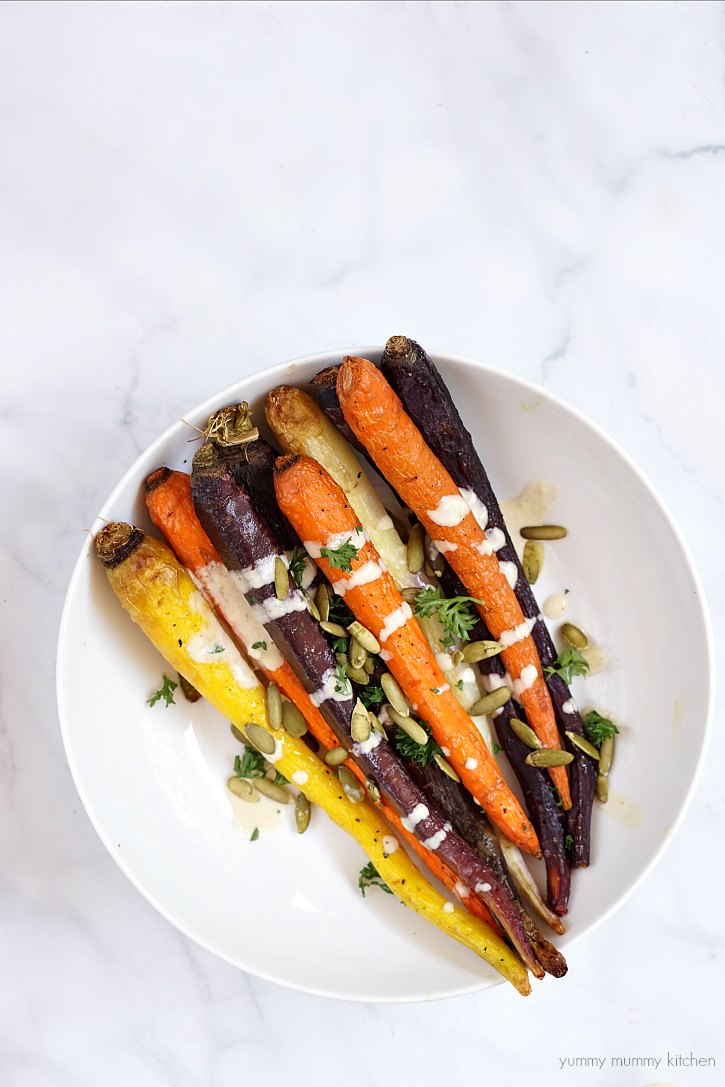 This Tahini Sauce Is Delicious Drizzled Over Roasted Vegetables Like Rainbow Carrots