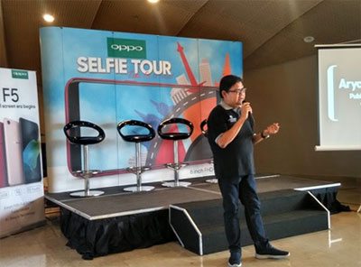 OPPO Selfie Tour with F5 Lampung : Aryo Meidianto PR Manager OPPO Indonesia
