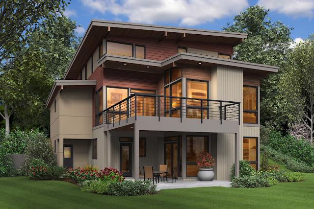 Rumah Modern Ramah Lingkungan Dua Lantai