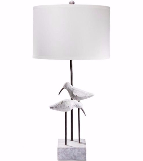 White Seabird Table Lamp