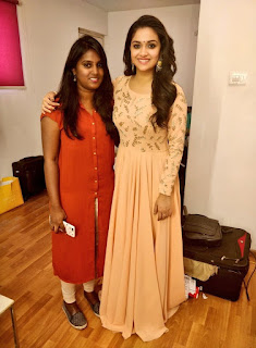 Keerthy Suresh with Cute and Awesome Lovely Smile with Vavveti Usha