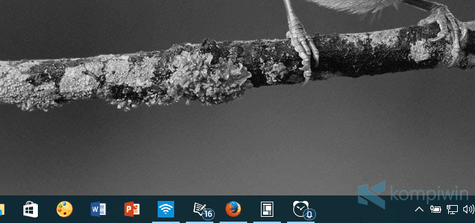 badge angka di taskbar