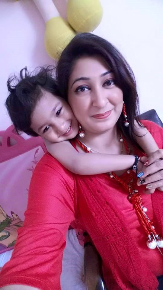 Shehla gul with kids