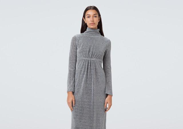 Сукня зі сріблястого люрексу