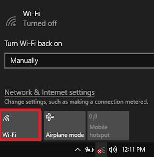 menghidupkan wifi laptop