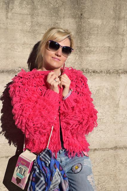 outfit maglione di lana fucsia come abbinare un maglione fucsia abbinamenti maglione fucsia  mariafelicia magno fashion blogger colorblock by felym fashion blog italiani blog di moda blogger italiane di moda web influencer italiane