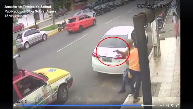 Sobral: Bandidos assaltam Totolec Show. Novo vídeo