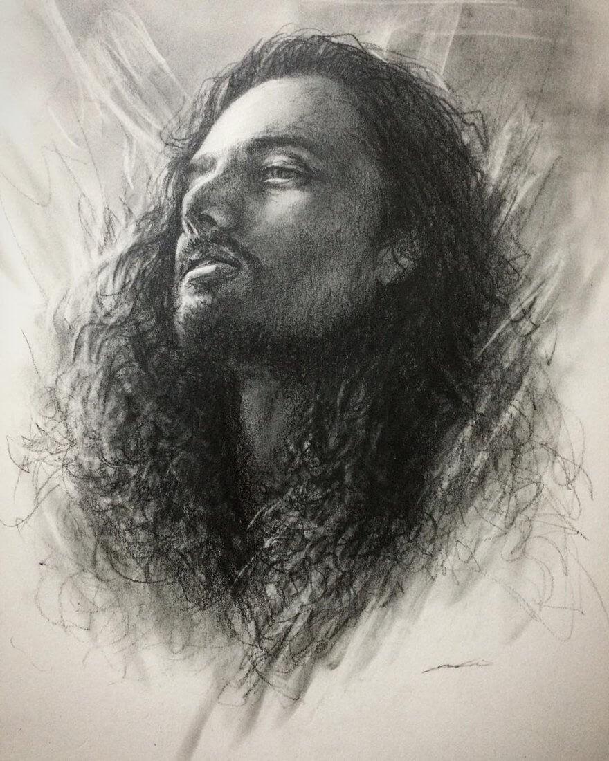 07-@jacobneverhill-Yoshi-Portrait-Drawings-of-People-on-Instagram-www-designstack-co