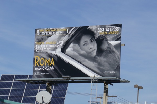 Roma Critics Choice billboard