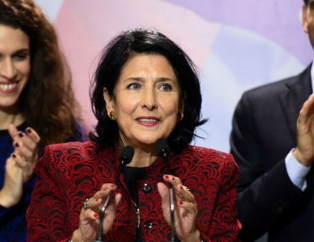 Georgia elects Salome Zurabishvili as the country's first female president